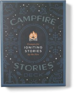 Campfire Stories // Check out our list of 15 fun, lightweight, and packable camping games that can be played in your tent, car, or around the fire.