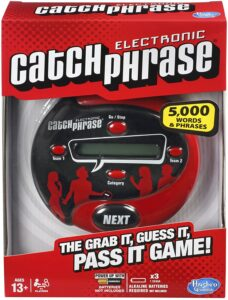 Catch Phrase // Check out our list of 15 fun, lightweight, and packable camping games that can be played in your tent, car, or around the fire.