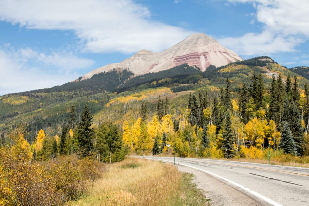 Pass Creek Trail to Engineer Mountain // Learn about the best fall hikes in Southwest Colorado near Durango, Telluride, and Great Sand Dunes National Park with trail stats and more.
