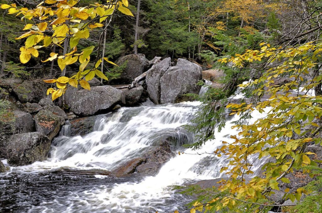 Georgiana Falls // Discover the 5 most scenic White Mountains waterfall hikes in New Hampshire including how to get there and what to expect along the trail.