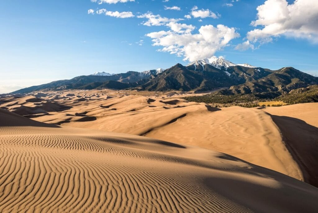Great Sand Dunes National Park // Learn about the best fall hikes in Southwest Colorado near Durango, Telluride, and Great Sand Dunes National Park with trail stats and more.