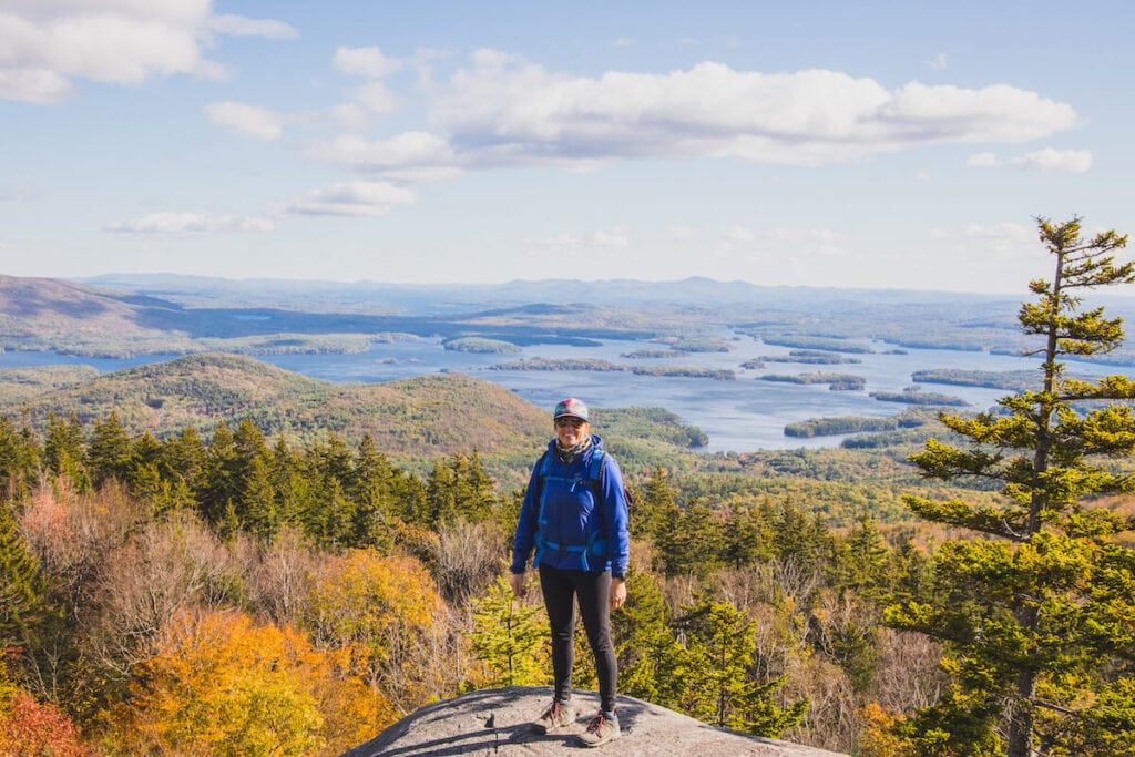 Mt. Morgan // Explore the best New Hampshire hikes to see fall foliage with our comprehensive hiking guide including directions and trail stats.