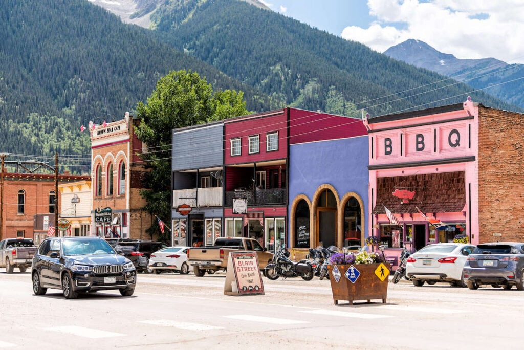 Silverton Colorado // Drive Colorado's Million Dollar Highway and San Juan Skyway to see amazing views of the Rocky Mountains and visit small mountain towns.