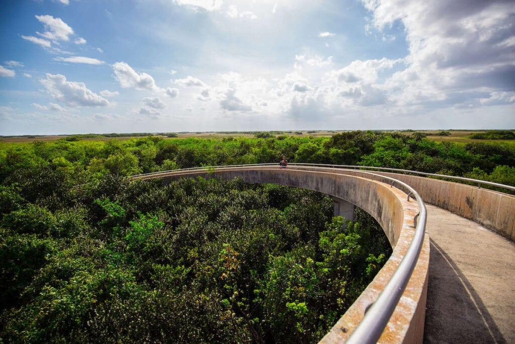 Shark Valley Observation Tower // Plan your Florida National Parks itinerary with this 7-day road trip guide that visits Key Biscayne, Everglades & Dry Tortugas National Parks